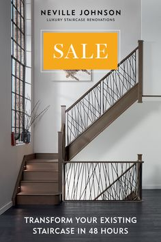 """Transform your existing staircase in 48 hours with no fuss, no mess and no building work. Request your FREE 100 page brochure today. This style for """"screen"""" for patio. Staircase Manufacturers, House Stairs, Loft Stairs, Modern Farmhouse Kitchens, House Extensions, Stairways, Home Interior Design, Living Spaces, New Homes"""