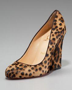 I kinda want these. Christian Louboutin Ron Ron Wedge