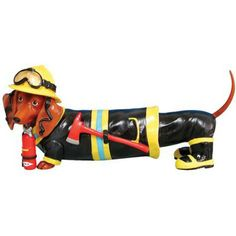 Hot Diggity Dog Fireman Doxie