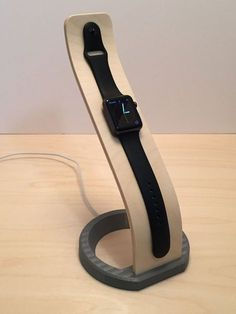 WaveForm Wood Dock for Apple Watch by ChininisDesignStudio on Etsy