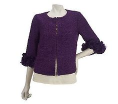 Joan Rivers Ruffle Sleeve Jacket — QVC.com I love this jacket. My Mom is wearing this for Jill and Lucas's wedding.