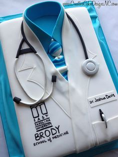 Completely Edible Groom's Cake for a doctor. www.CreativeCakeDesignsNC.com
