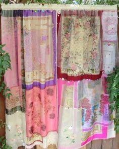 hankie curtains loving this