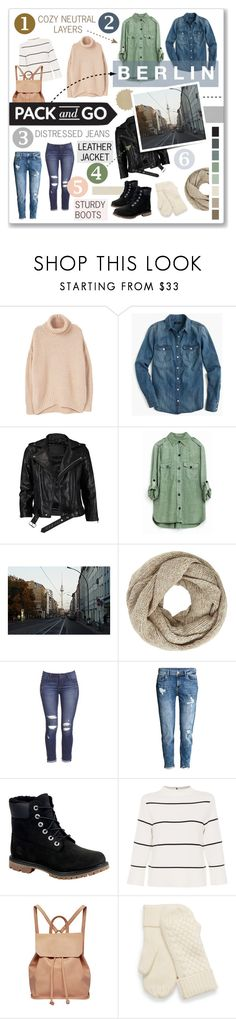 """""""Travel Wishes: Back to Berlin"""" by singingintherain-788 ❤ liked on Polyvore featuring MANGO, J.Crew, VIPARO, John Lewis, Timberland, L.K.Bennett, Urban Originals, travel, wishes and berlin"""