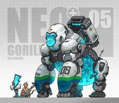 NEO-05, mole wang on ArtStation at https://www.artstation.com/artwork/8o5YO