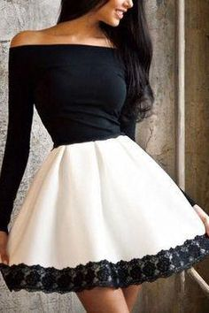 A-Line Off-the-Shoulder ,Long Sleeves ,White Homecoming Dress with Lace,Homecoming Dress with Lace Appliques White Off Shoulder Dress, White A Line Dress, White Long Sleeve Dress, Lace Dress With Sleeves, Dress Lace, Lace Maxi, Cap Sleeves, Ruffle Blouse, Pretty Dresses