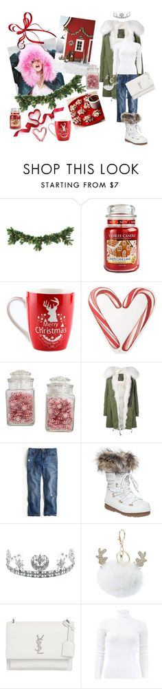 """Winter holiday!!!!🎄❤🎄"" by mi-bi-mimi ❤ liked on Polyvore featuring Yankee Candle, Draper James, Mr & Mrs Italy, J.Crew, Child Of Wild, Charlotte Russe, Yves Saint Laurent and Michael Kors"