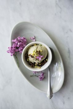 Pistachio Ice Cream + Chocolate Cake Crumble from the N''Ice Cream Cookbook (Vegan, gluten-free, refined sugar-free, yet totally delicious and decadent!) | The Green Life