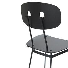 Bent dining chair black - Tristan Frencken Dutch Design