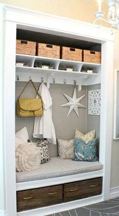 entryway closet makeover nook