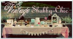 Vintage Shabby Chic 1st Birthday Party on http://pizzazzerie.com