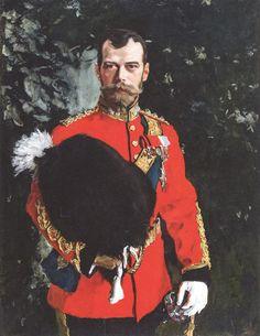 Портрет Николая II, полковника шотландского драгунского полка, 1900 год. Собрание Шотландского королевского полка