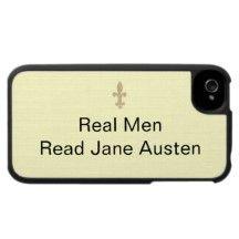 Les vrais hommes… ont lu Jane Austen Housse Pour Iphone 4