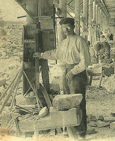 Travailleur de la pierre à La Ferté-sous-Jouarre (France)