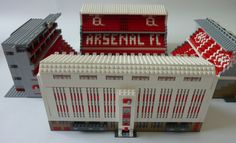 See amazing Lego versions of Anfield, Highbury, Goodison Park and more Premier League grounds Arsenal Stadium, Arsenal Fc, Lego Sports, Goodison Park, Man Cave Garage, Football Stadiums, Lego Building, One Team, Legos