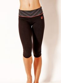 "15"" REFRESH CROP LEGGING w/ Tribal Stripe Print by Green Apple"