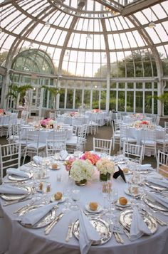 Beautiful reception location for a wedding. #BrooklynBotanicGardenWedding #JoshuaZuckermanPhotography #StyleMePretty