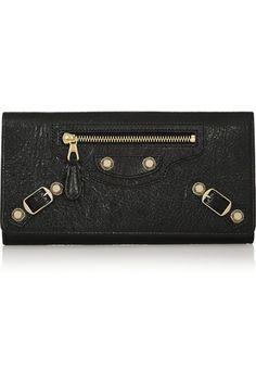 Giant Money studded textured-leather wallet | Balenciaga | NET-A-PORTER.COM