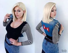 Android 18 - Dragon Ball Z by Kinpatsu-Cosplay on DeviantArt Game Costumes, Cosplay Costumes, Dragon Ball Z, Android 18 Cosplay, Cartoon Photo, C 18, Ecchi Girl, Best Cosplay, Cosplay Girls