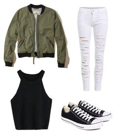"""Fashion 🖖🏼"" by emma92266 ❤ liked on Polyvore featuring Converse and Hollister Co."