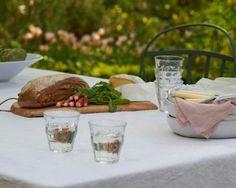 Castellet White 100% Linen Tablecloth  #thelinenworks  #perfectlunch