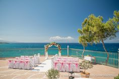 Sarah and Scott's romantic wedding at The Balcony in Zante by The Bridal Consultant