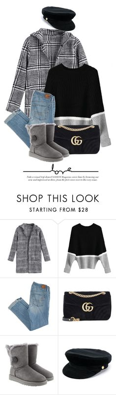 """15:13"" by monmondefou ❤ liked on Polyvore featuring American Eagle Outfitters, Gucci, UGG and Manokhi"