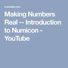 Making Numbers Real -- Introduction to Numicon - YouTube