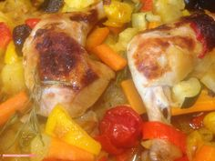 fischi`s cooking and more....: hühnerkeulen -  mediterran