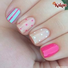 Get inspirations from these cool stylish nail designs for short nails. Find out which nail art designs work on short nails! Fancy Nails, Diy Nails, Beige Nails, Pastel Nails, Leopard Nails, Dot Nail Art, Trendy Nail Art, Super Nails, Beautiful Nail Art