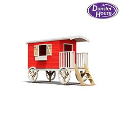 "Spiel Caravan LWB Play House W3' 7"" x D9' 6"" Kids Playhouse Climbing Frame. Do you have some explorers looking for mischievous pixies or naughty goblins causing trouble at the bottom of the garden?. Then let your kids explore the highways and byways of their imagination with our Spiel Caravan. 