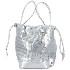 Paco Rabanne chainmail mini bucket bag (2,240 PEN) ❤ liked on Polyvore featuring bags, handbags, shoulder bags, metallic, bucket bags, miniature handbags, paco rabanne handbag, chainmail purse and mini purse