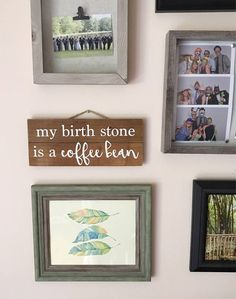 Coffee Sign, My birth stone is a coffee bean, coffee bar sign, coffee shop sign, handmade sign, coffee addict