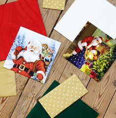 Christmas napkins from Duni Santa napkins