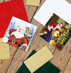 Christmas napkins from Duni Santa napkins