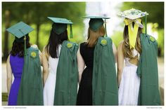 Most graduates were expecting some simple photos of them in graduation robes, but our girls were surprised by more than that.