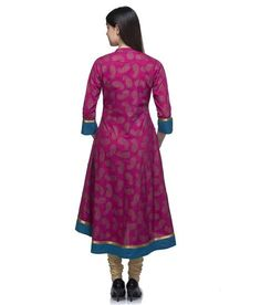 LadyIndia.com #Kurtis, Gorgeous Designer Cotton Silk Pink Kurti For Women, Kurtis, Kurtas, Cotton Kurti, https://ladyindia.com/collections/ethnic-wear/products/gorgeous-designer-cotton-silk-pink-kurti-for-women