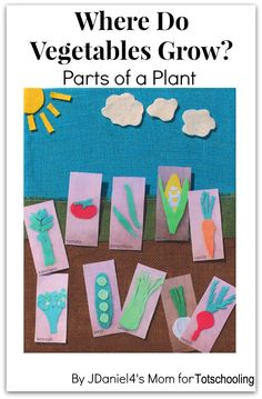 Where Do Vegetables Grow? Gardening Craft with Free Printable Vegetable Cards