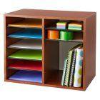 Safco Wood Adjustable Literature Organizer - 12 Compartment