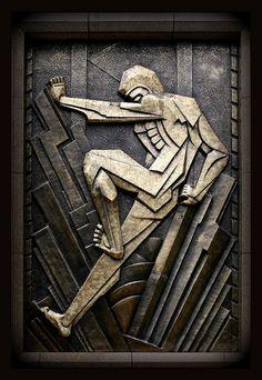 Art Deco bas relief. Photo by djFargo on Flickr
