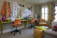 long office wall desk | Home Office. Brilliant Office Design For Small Spaces Ideas. Office ...