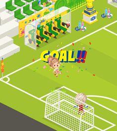 #LinePlay #App #Game #Muriomu Goal