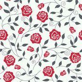 Abstrato sem costura com rosas — Vetor de Stock
