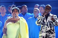 Aretha Franklin and BeBe Winans perform onstage at the 50th Annual GRAMMY Awards held at Staples Center on Feb. 10, 2008