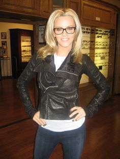 love these glasses - Jenny McCarthy wearing Chanel eyeglasses by SF Optics, via Flickr