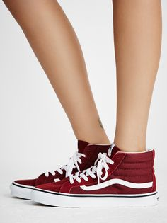 Sk8-Hi Slim Hi Top Sneaker  | Super sporty and classic Vans Sk-8 sneaks featured in a high-top silhouette. Suede and canvas upper and lace-up detailing. Sturdy rubber sole for ultra-comfortable wear.