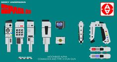 Gerry Andersons Space 1999 Commlock and Stun G by ArthurTwosheds.deviantart.com on @deviantART