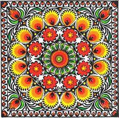 Polish Folk Art Napkins (package of 20) - 'Paper Cut Sunlight'