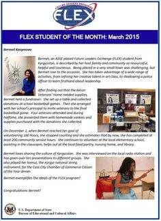 March 2015 Student of the Month