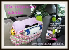 """Creating my way to Success: Car Organiser tutorial. Maybe use the """"box in a tote"""" design for better stability. And Mae needs a pocket for her iPad. Sewing Hacks, Sewing Tutorials, Sewing Crafts, Sewing Projects, Craft Projects, Tutorial Sewing, Learn To Sew, How To Make, Sewing For Kids"""